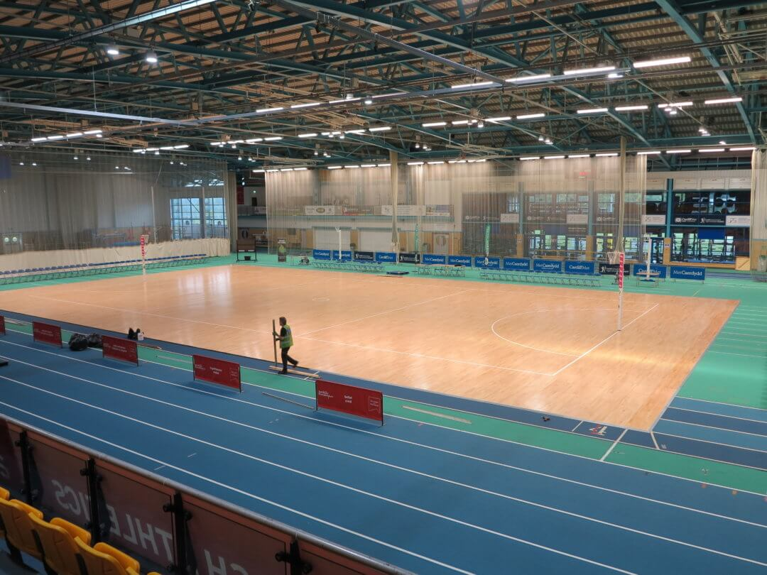 Netball super League court for the Celtic Dragons