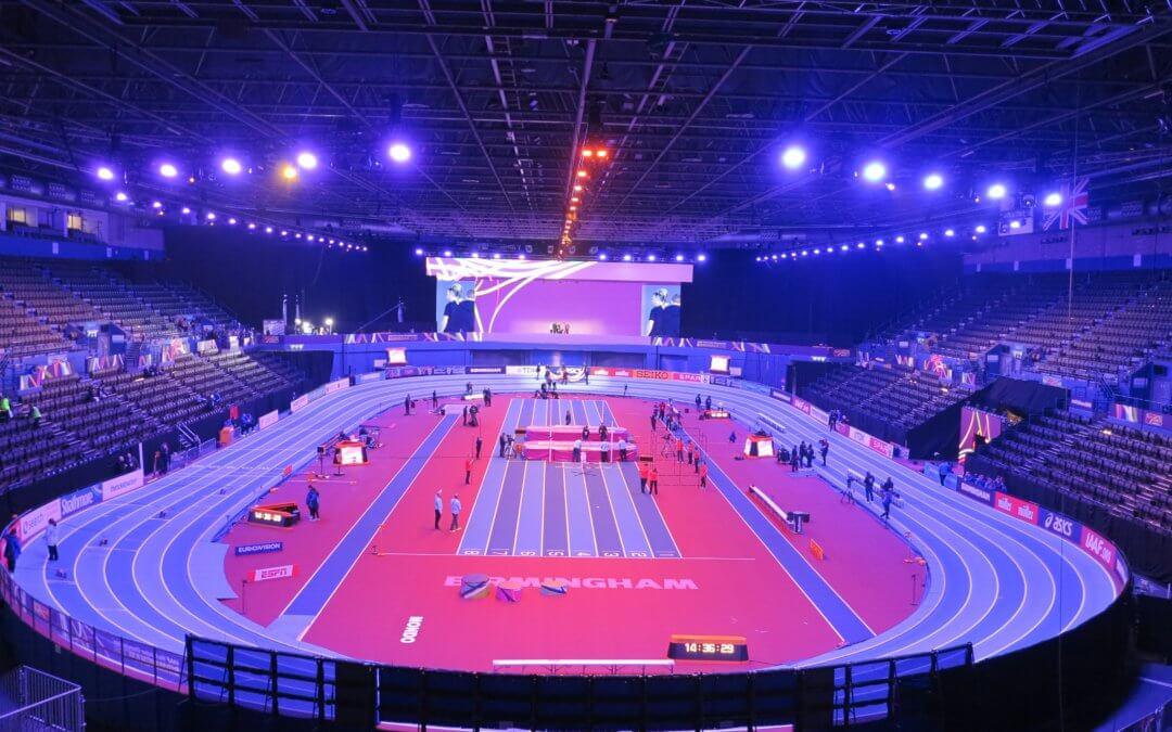 200 metre indoor athletics track