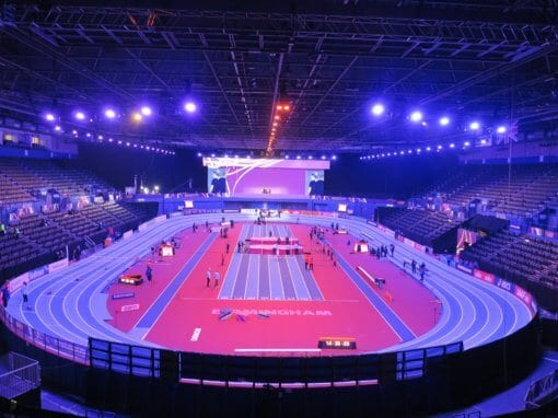 200 metre indoor athletics track